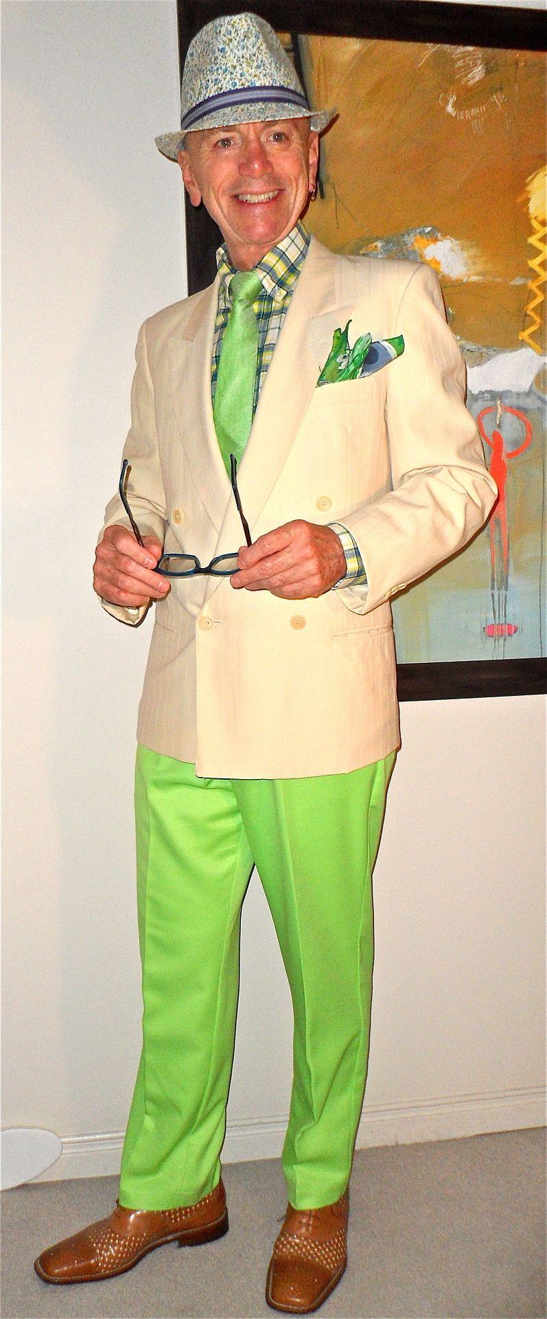 Saks Fifth Avenue Corneliani DB blazer, Jo Fresh shirt, Sondergaard tie, pocket square from the amazingly talented Canadian silk artist Laura Elderton (go to Etsy under LauraElderton), Izod pants, Mezlan woven leather two-tone shoes…