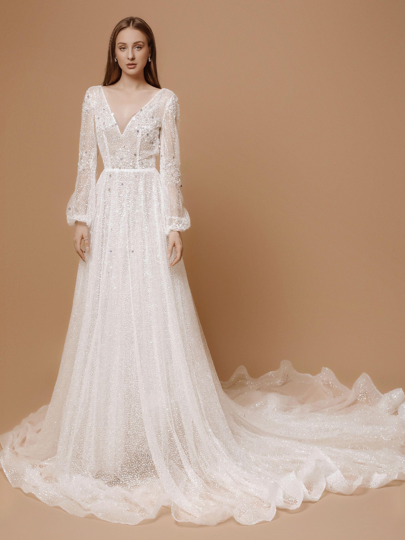 Vintage Boho Wedding Dress With Long Sleeves Wedding Dresses Aline Wedding Dress Cape Wedding Dress [ 2974 x 2230 Pixel ]
