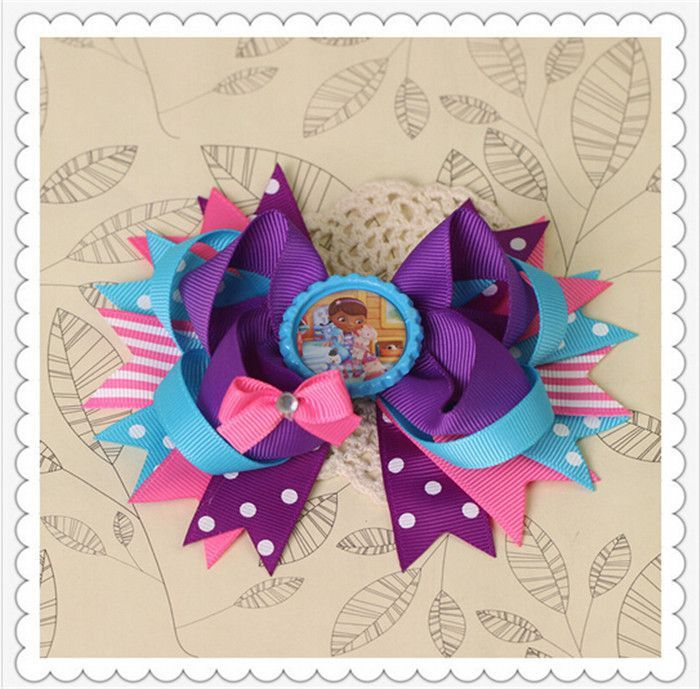 diy flowers minnie mickey baby girls hair clips for girls women of grosgrain