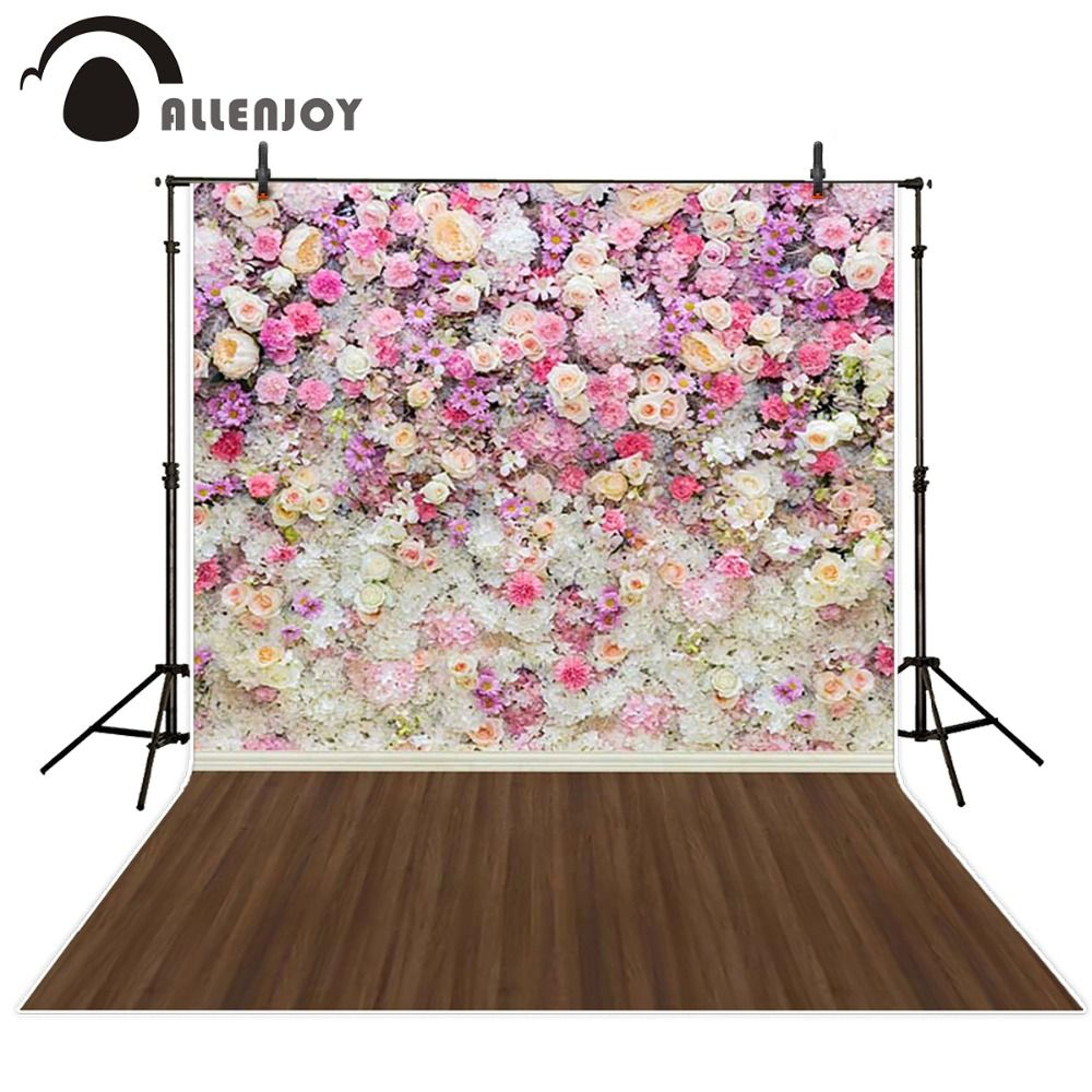 Allenjoy photography background colorful flower wooden floor cheap spring background buy quality backgrounds baby directly from china computer printed backdrop suppliers photography spring background baby shower izmirmasajfo
