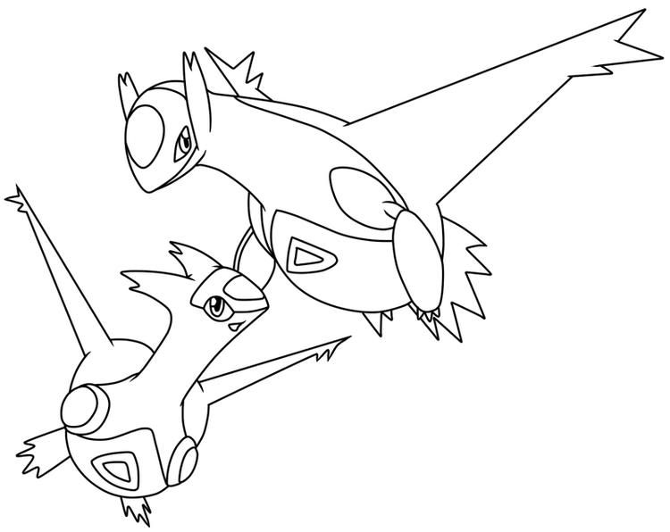 Legendary Pokemon Coloring Pages Latios And Latias With Images