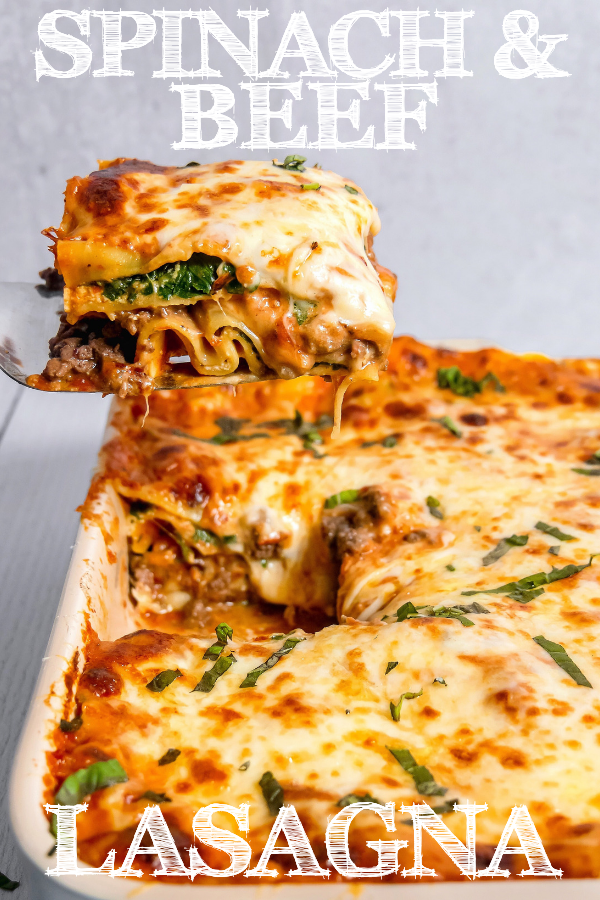 Spinach And Beef Lasagna Girl With The Iron Cast Recipe Beef Lasagna Lasagna Pasta Dishes