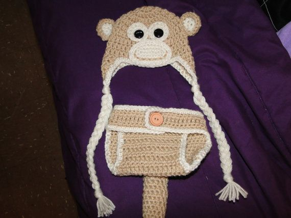 Crochet Monkey Hat And Diaper Cover Set Patterns To Get Busy On