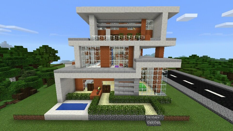 Casa moderna con cascada minecraft minecraft related for Casa moderna 2 minecraft