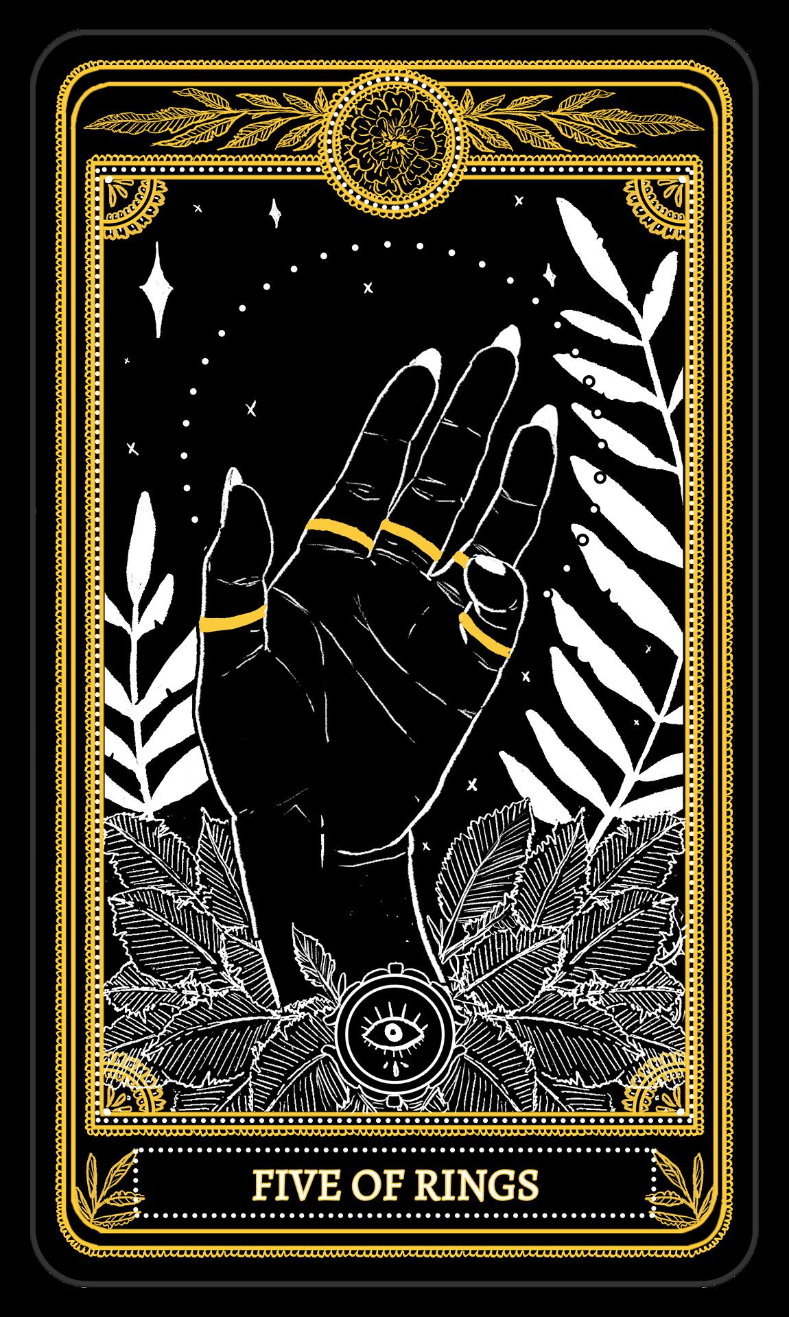 The Marigold Tarot Minor Arcana: Rings, 1-5 Amrit Brar