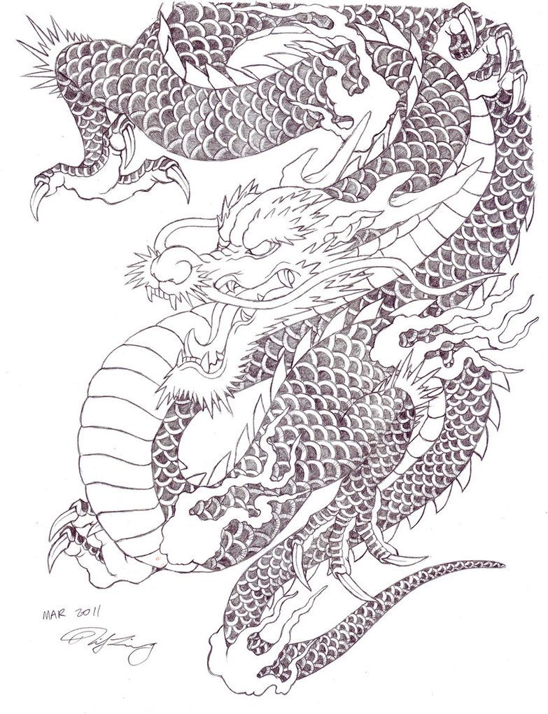 Japanese tattoo dragon by zell381 783 1020 for Japanese tattoo art