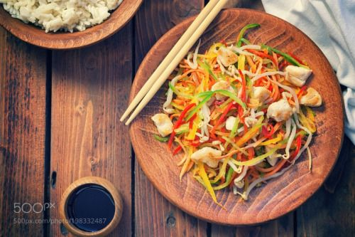Stir fry chicken meat with vegetables by K2PhotoStudio  IFTTT 500px