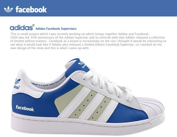 03f58e91e8e7 Adidas Facebook Superstars by Gerry Mckay