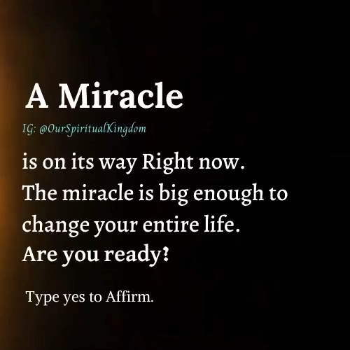 A Miracle Take our free numerology reading which will amaze you for sure.