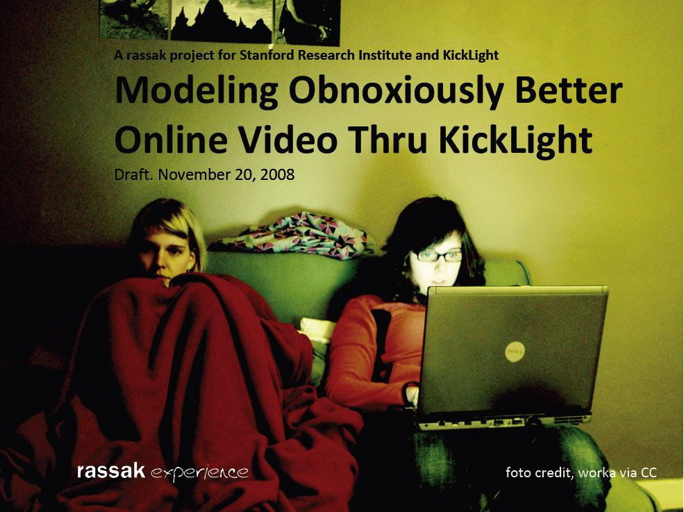 "Rassak Models ""Obnoxiously Better"" Online Video for Stanford Research Institute (SRI) Incubator Company Kicklight - Rassak Experience"
