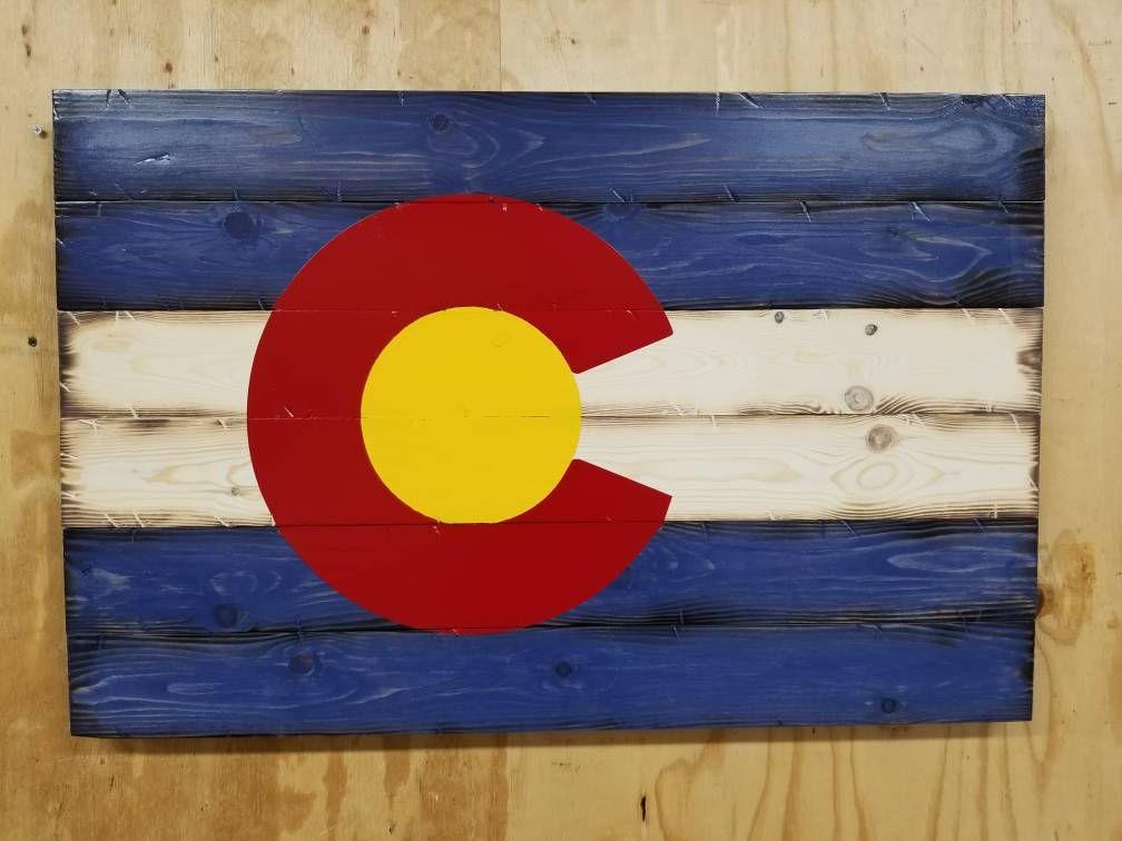 Rustic Wood Colorado Flag Colorado State Flag Wall Art Etsy In 2020 Colorado Wall Decor Etsy Wall Art Colorado Flag