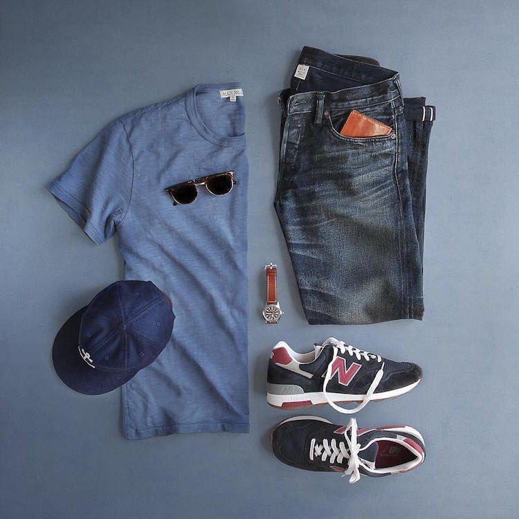 43ebc12977 new balance look masculino combo Mode Vetement, Mode Homme Grande Taille,  Mode Décontractée Pour