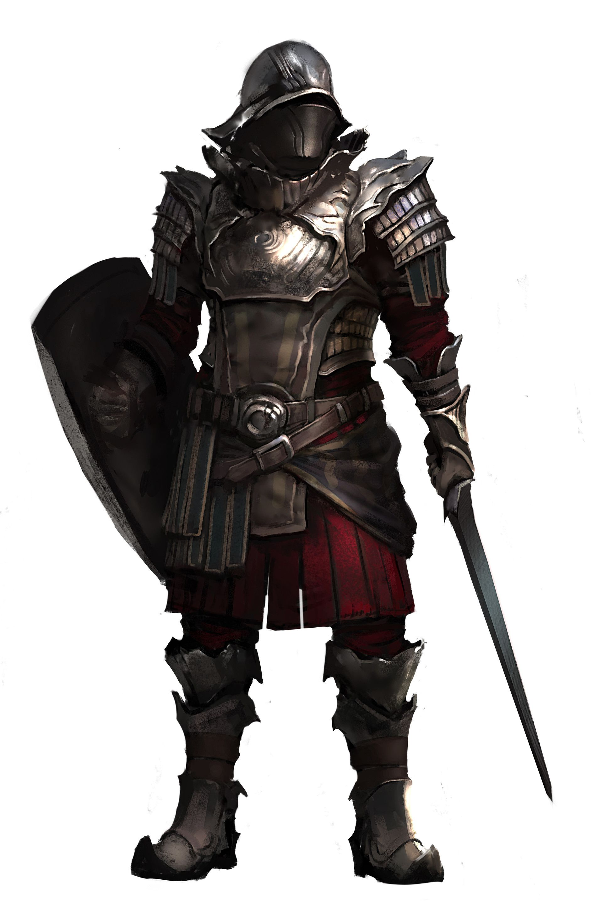 Character concept male soldier human armor plate castle