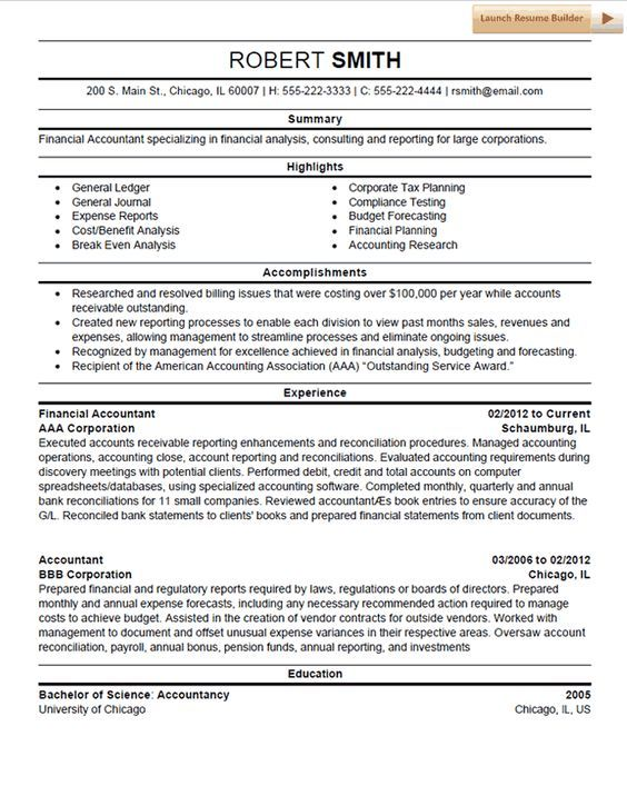 Accounting Resume Template Alfoutaim Pinterest Template - accountant resume objective
