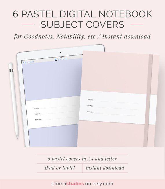 Digital Notebook Cover Template
