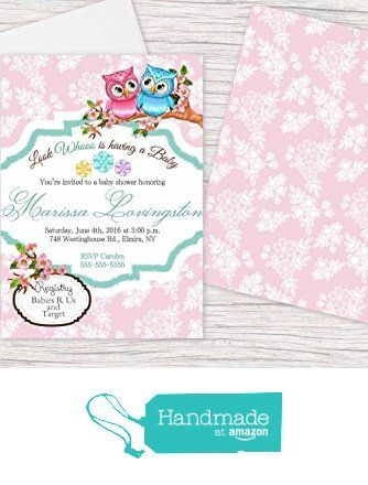 owl baby shower invitations personalized 5x7 cards custom tree