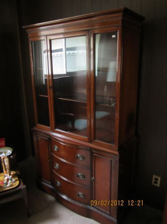 $300 Duncan Phyfe China Cabinet. Love That Curvy Front And Straight Top
