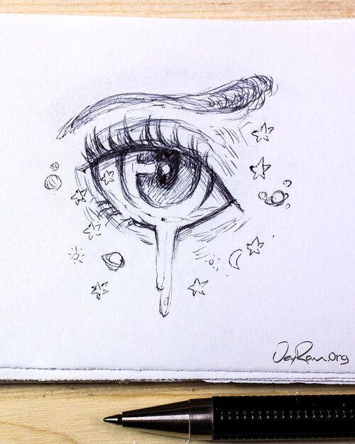 Female Anime Eye Drawing & Design (Printable PDF) — JeyRam Character Design