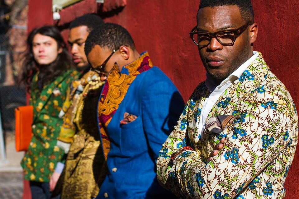 African men's style in blazers
