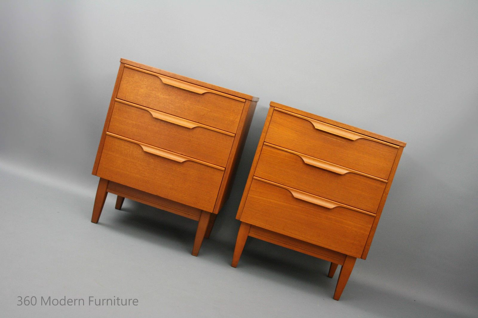 mid century modern reliance bedside tables chest of drawers retro