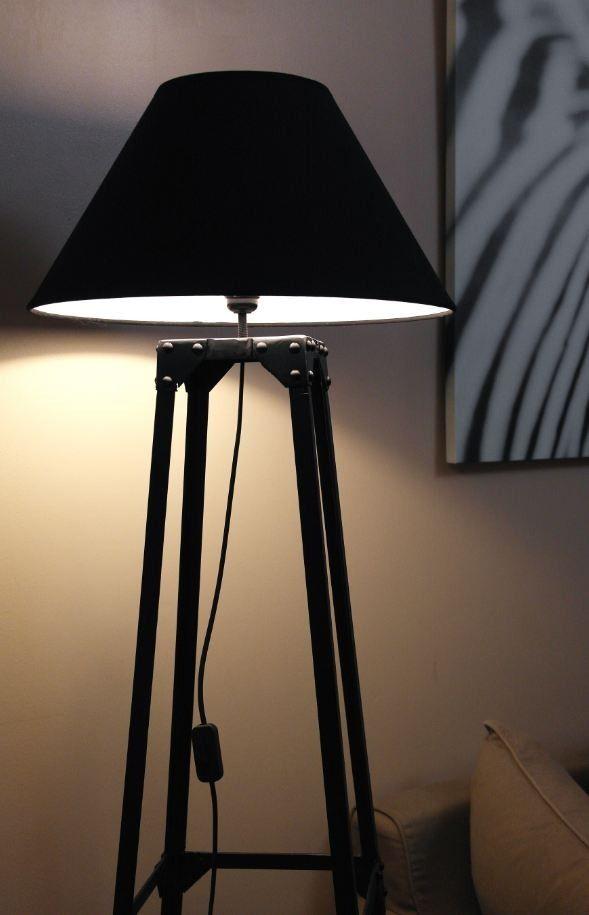 lampadaire acier sur pied style industriel loft luminaires par latelier62 maison pinterest. Black Bedroom Furniture Sets. Home Design Ideas