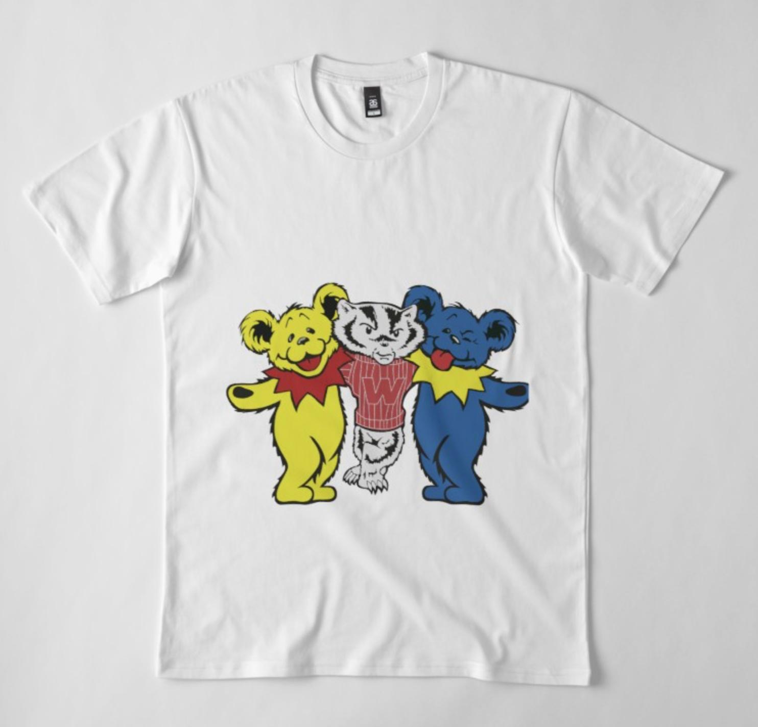 Grateful Dead Crop Top Shirt Dancing Bears Long Sleeve T Shirt