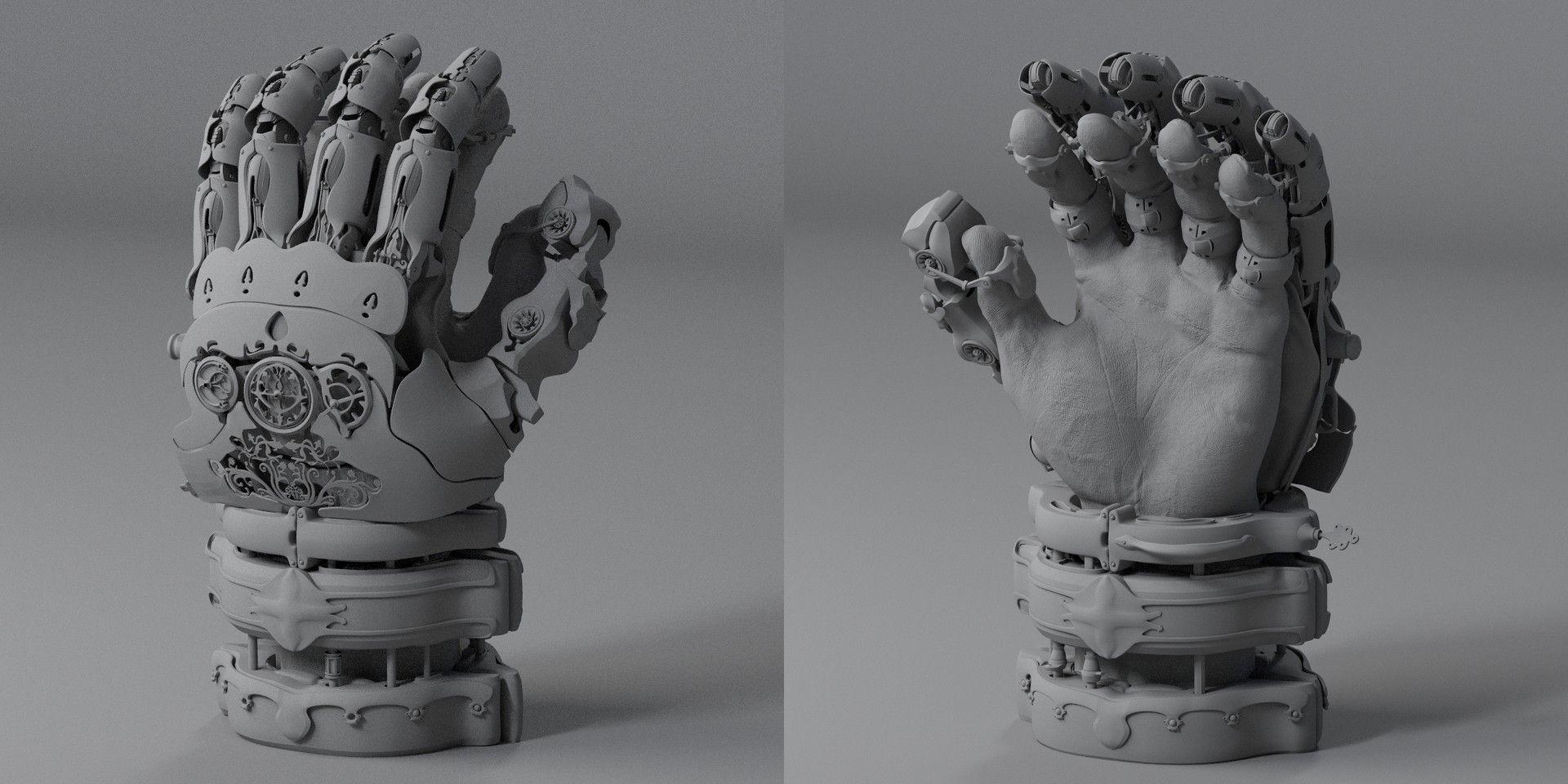 ArtStation - Steampunk Royal Gauntlet, Tuna Unalan
