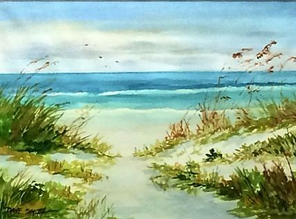 David Smith Painted This Watercolor Beach Scene That Is Up For Bid