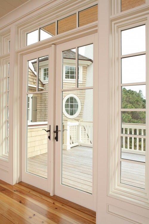 Exterior French Door Replacement For Back Sliding Door With Bronze Hardware