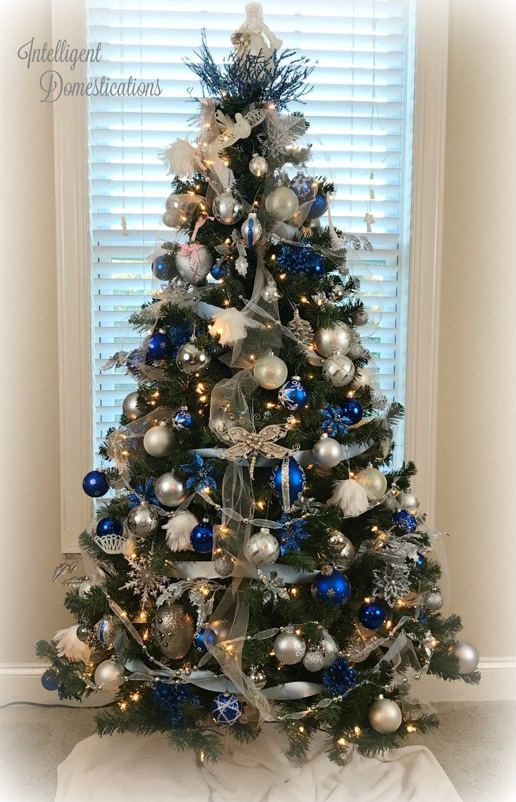 Blue And White Christmas Tree Decorations White Christmas Tree Decorations Blue Christmas Tree Decorations Gold Christmas Decorations