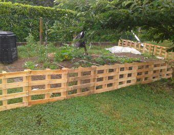 barriere potager jardin palette barri re projets. Black Bedroom Furniture Sets. Home Design Ideas
