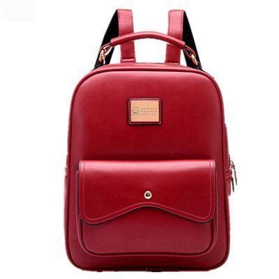 85cba8ae94c2 PU leather Backpack Women Campus Style Women Backpacks 5 Colors Ladies Girls  School Shoulder Bags Lovely Bagpack Bags
