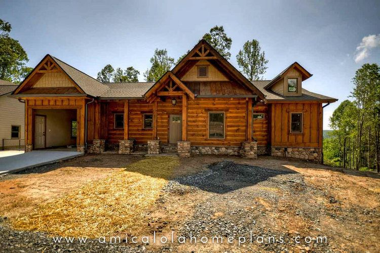 Plan No 16016 Noontootla Cottage Rustic Mountain House Plans Amicalola Home Plan Mountain House Plans Rustic Houses Exterior Craftsman Style House Plans