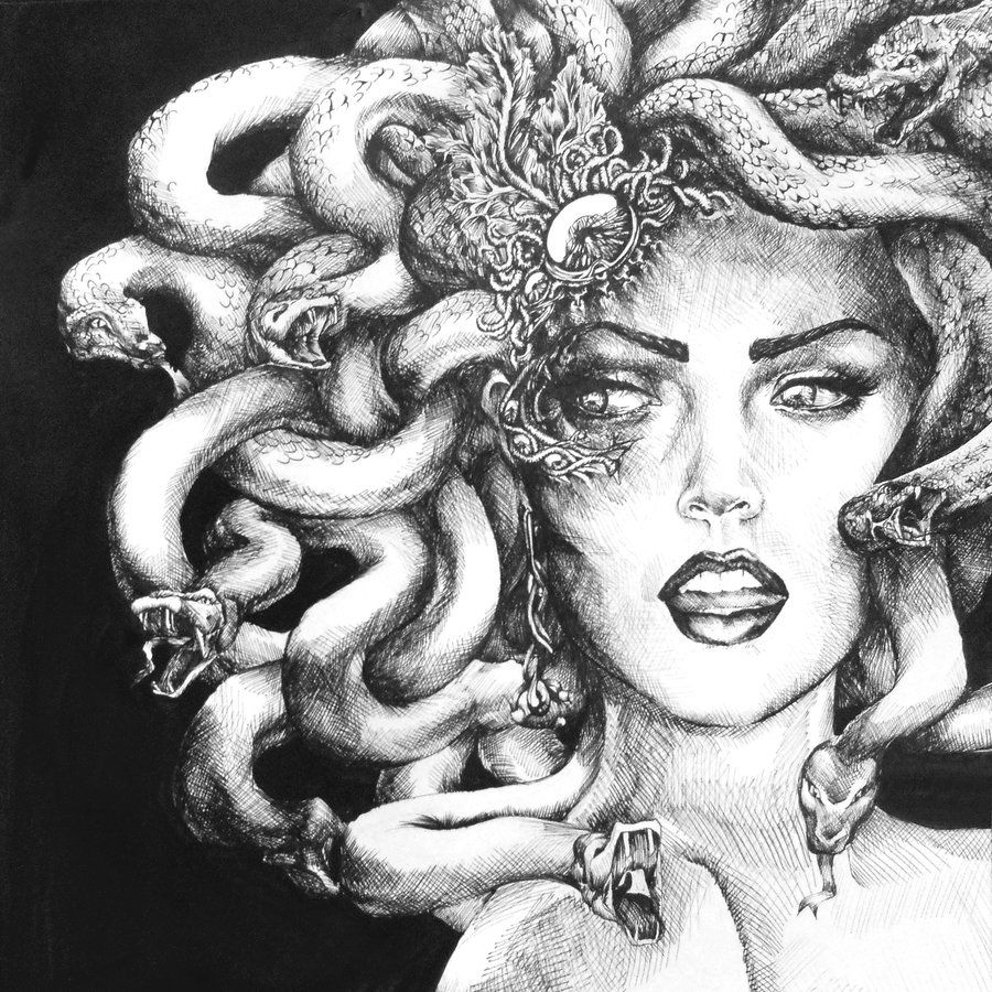 Drawing: Medusa Drawing On Pinterest