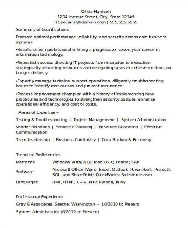Resume Format Job Experience resume examples Pinterest Resume