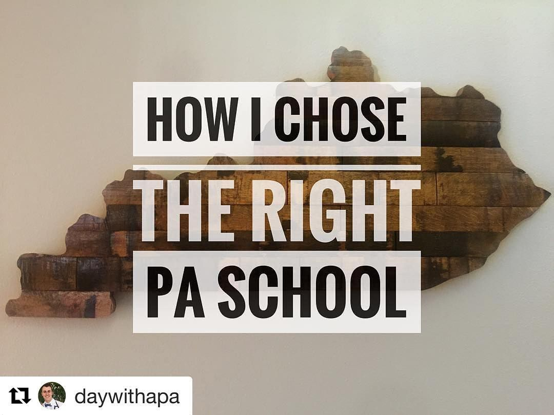 Awesome insights from daywithapa Applying to PA schools