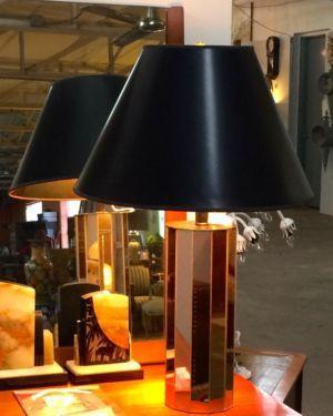 "Mirror Lamp   28"" High   $80  Rubbish Designer Vintage Finds Dealer #3501  Lucas Street Antique Mall 2023 Lucas Dr. Dallas, TX 75219  Like us on Facebook: https://www.facebook.com/pages/R"