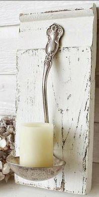 spoon candle holder