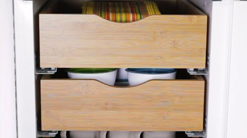 Bamboo Roll-Out Drawers | Kitchen cabinet storage, Cabinet ...