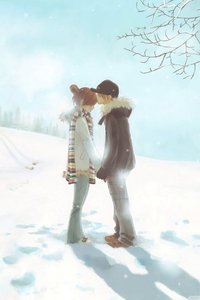 Day  Winter Is Coming How Do You See Yours Cute Anime Couple Wallpaper