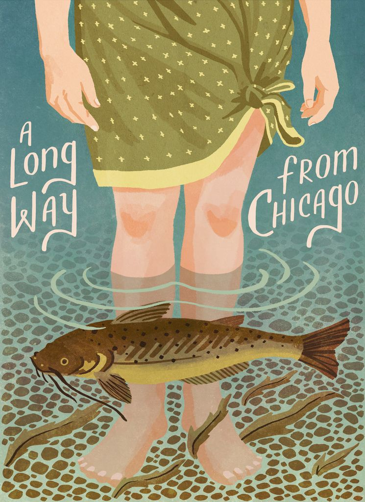 A Long Way from Chicago- book cover illustration Caleb Luke Lin