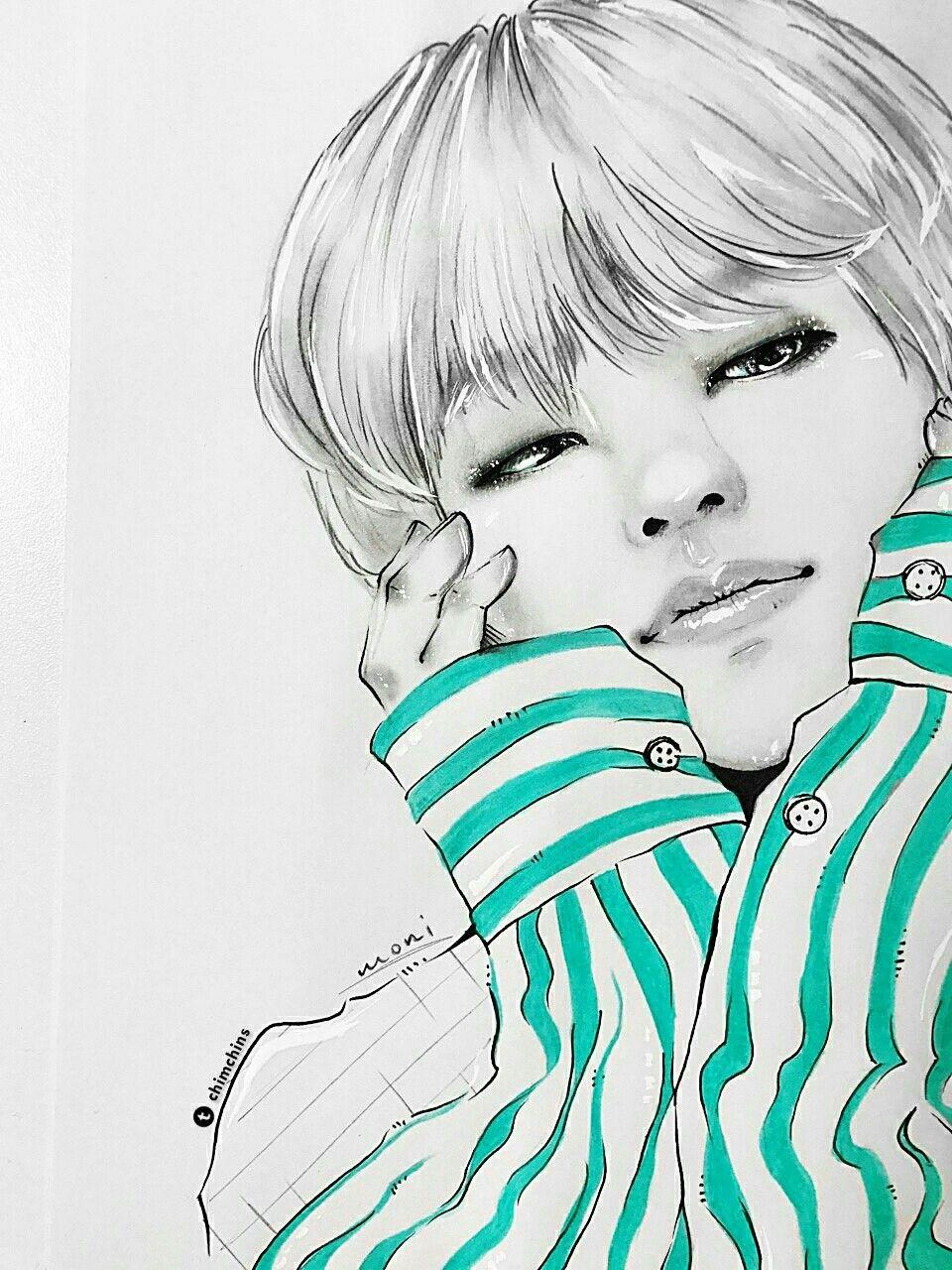 Pin oleh StanSan di BTS art   Orang