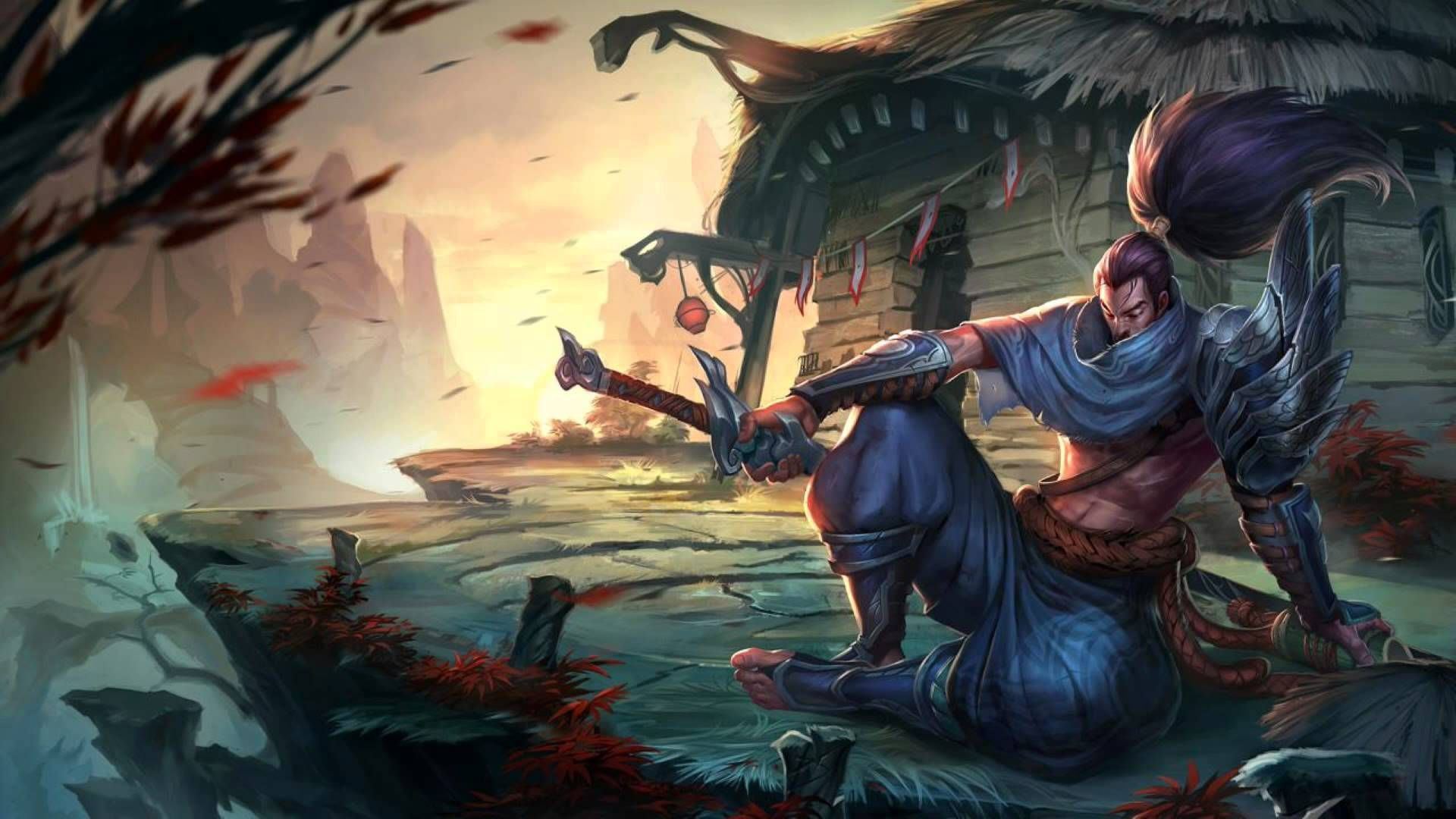 Yasuo Hd Wallpaper 1920x1080 Id 37675 League Of Legends Yasuo Yasuo League Lol Champions