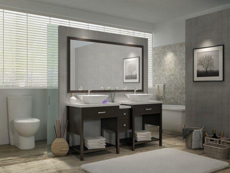 73 Inch Double Sink Bathroom Vanity Set Espresso Finish With Images Double Vanity Bathroom Bathroom Vanity Modern Bathroom Vanity