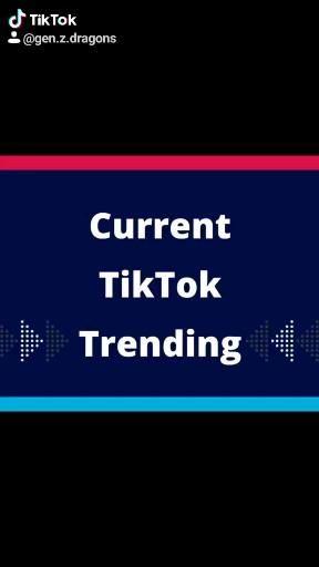 Current Tiktok Trending Video What S Trending Right Now What S Trending Trending