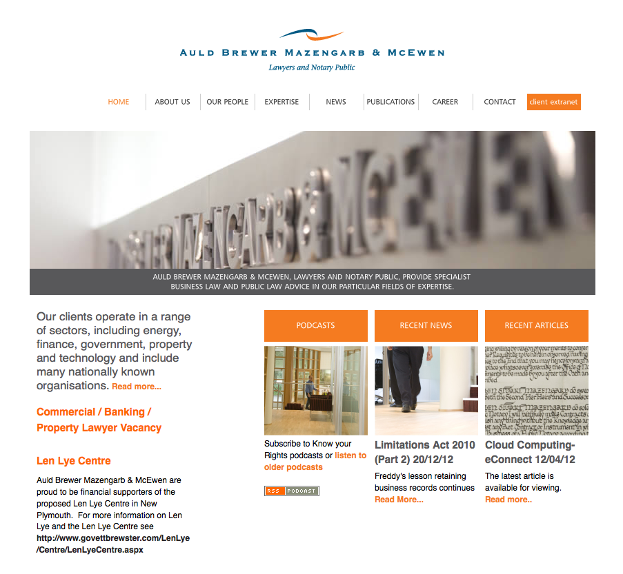 Auld Brewer Mazengarb Mcewen Lawyers New Plymouth Website
