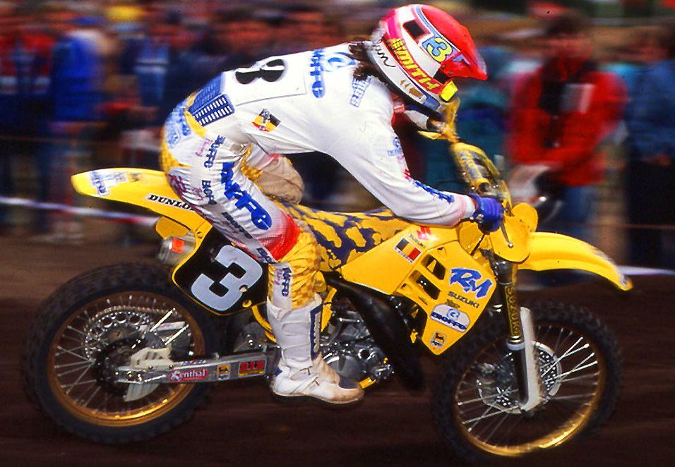 Stephan Everts 1991 Con Suzuki Campeon Del Mumdo 125 Pilotos De