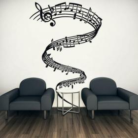 Vinilos decorativos tornado musical vinilos en paredes for Vinilos decorativos grupos musicales