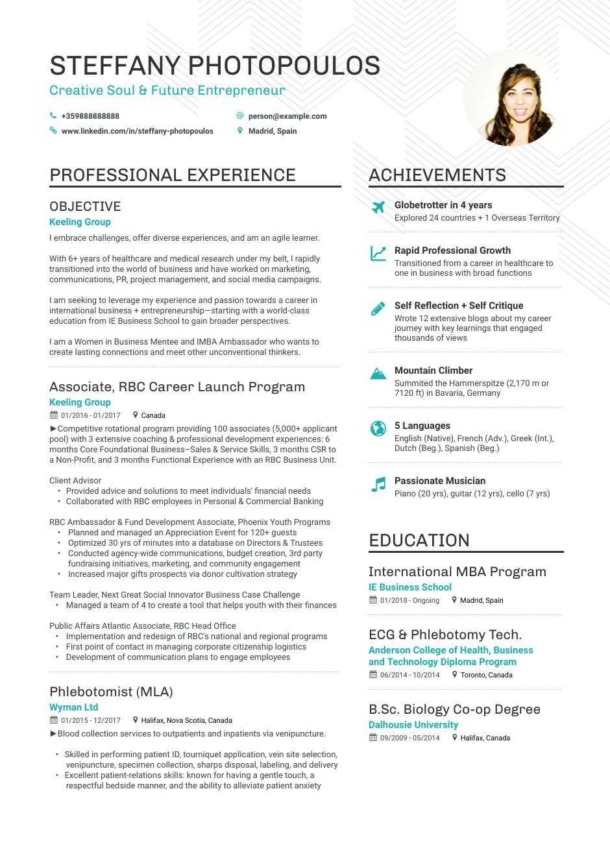 Career Change Resume Example in 2020 Career change