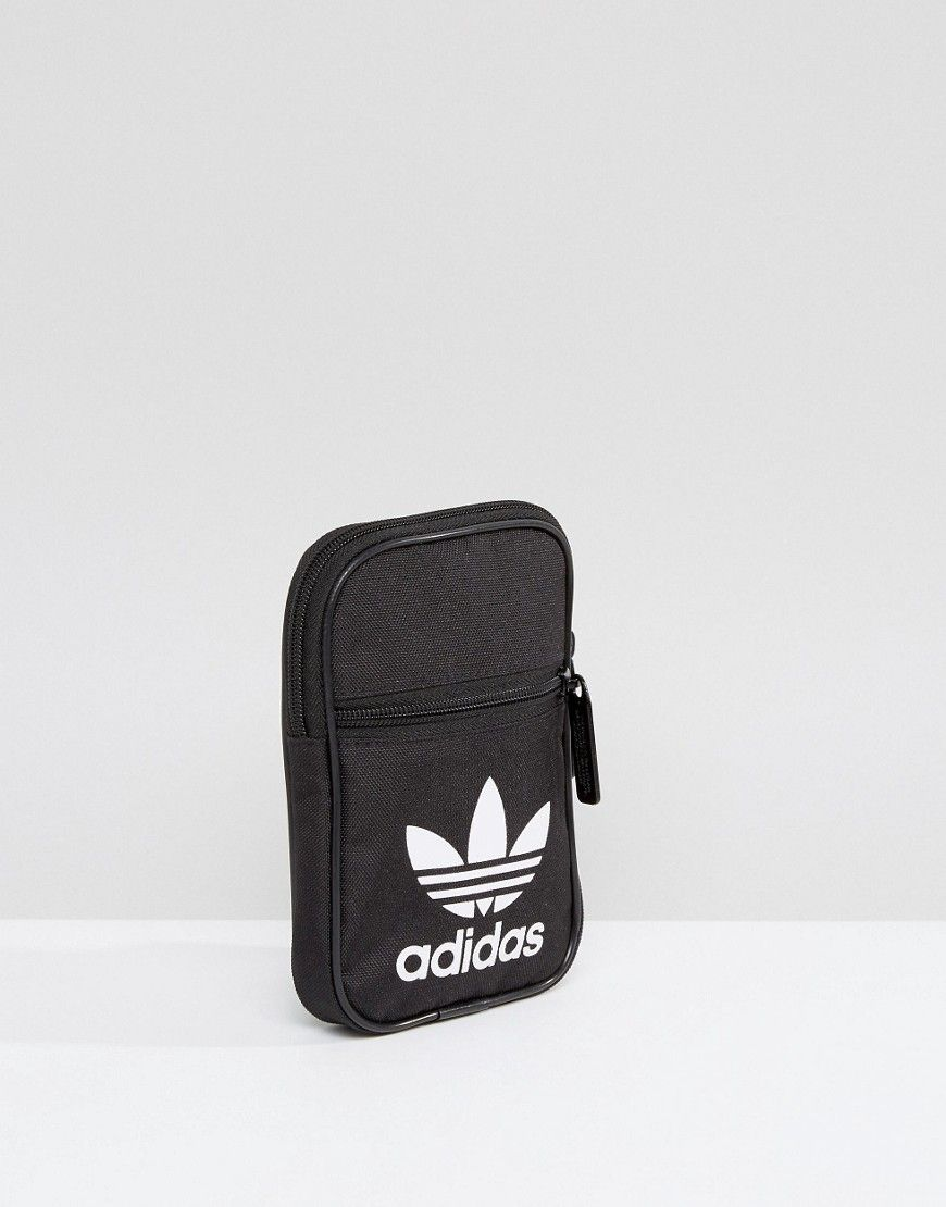 5f4e9f2d4 adidas Originals Festival Black Mini Multiway Bag With Trefoil Logo ...